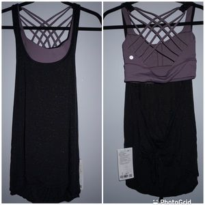 NWT Lululemon size 6 Tied in energy 2-1 tank.